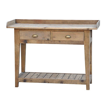 Solid Timber Table w/ 2 Draws