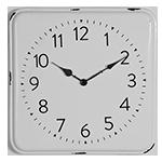 White Retro Clock