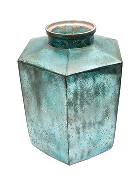Large Teal Decorator Vase