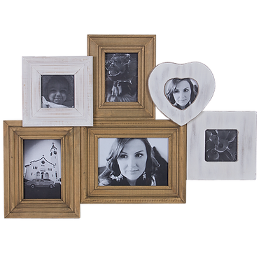 6 x Timber Frame Picture Set