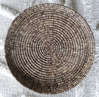 Genuine Handcrafted African Woven Serving Mat (With Hanger) Black /Natural