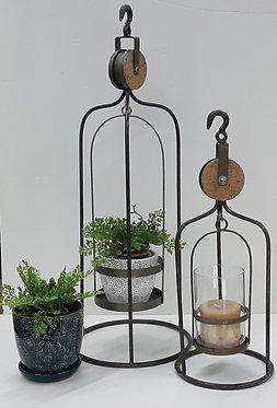 Smaller Rustic Lantern Candle Holder