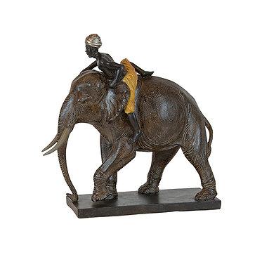 Large Man On Elephant