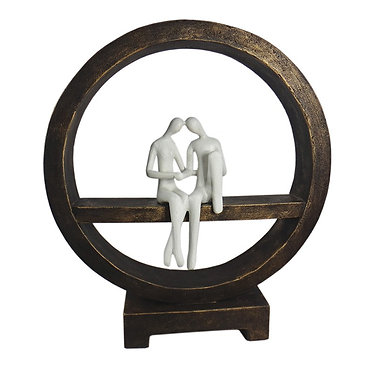 Couple In Circle Statue