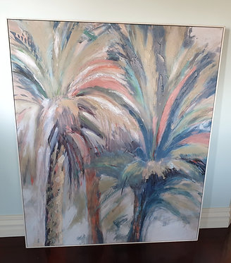 Abstract Palm Canvas Framed