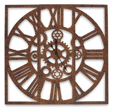 3 Panel Metal Wall Clock