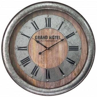 Metal And Timber Clock