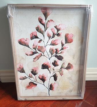 Pink Tones Leaf Artwork 2 Framed