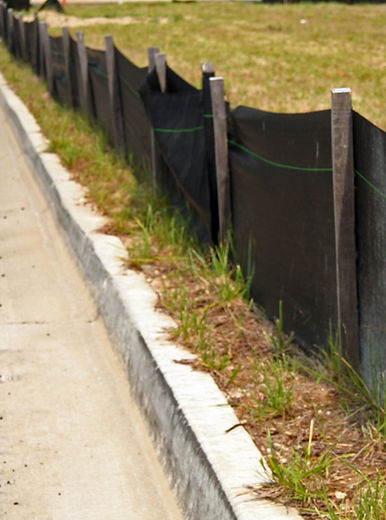 Silt or Filter Fabric Fence