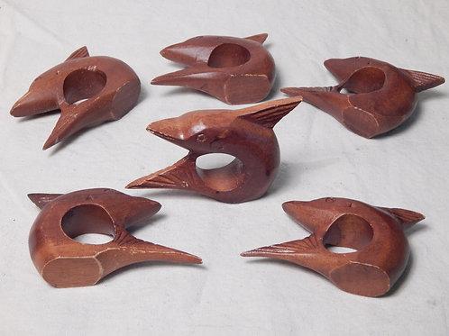 6 Dolphin Napkin Rings