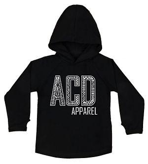 Basic Hoody - Front - Black - ACD Logo -