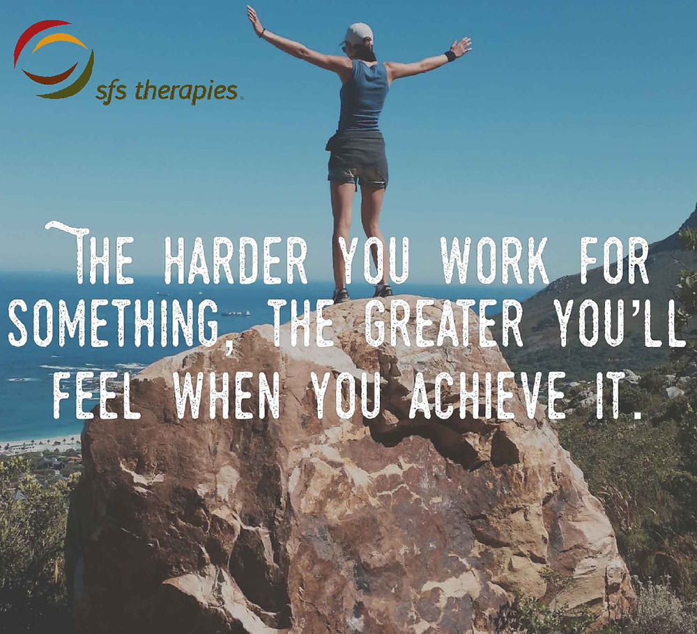 """The Harder You Work For Something, The Greater You'll Feel When You Achieve It"""