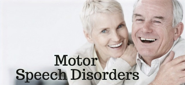 Motor-speech disorders