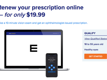 1-800 Contacts Online Eye Exam Eligibility