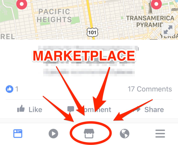 Facebook marketplace on mobile