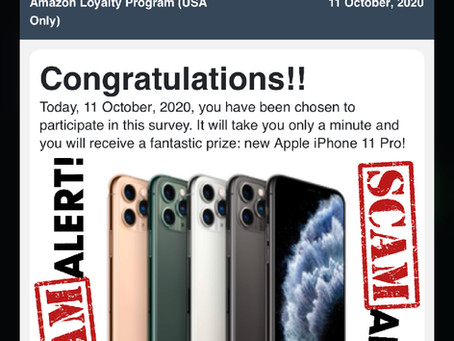 Congratulations Amazon User – Amazon Pop Up and iPhone X or Gift Card [SCAM]