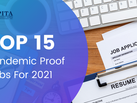 Top 15  Pandemic Proof Jobs For 2021