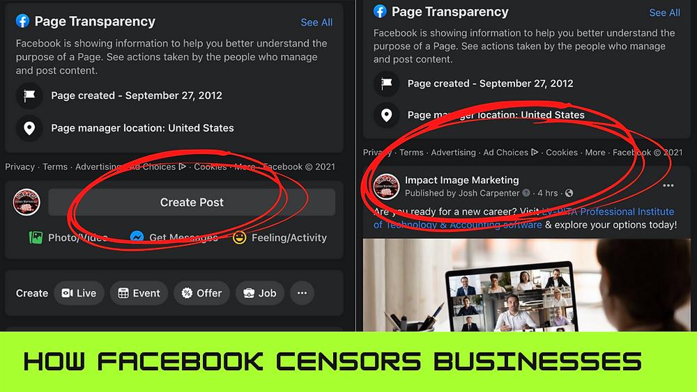 Learn How Facebook Censors Businesses on It's Platform