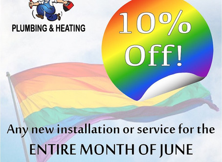 10% Off Entire Month of June!