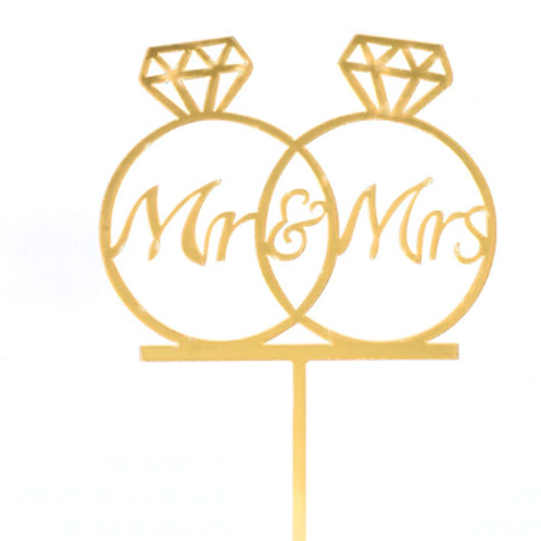 RingIt - Mr and Mrs Cake Topper