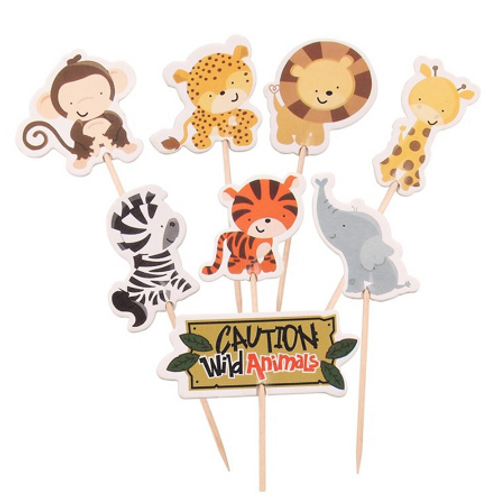 Jungle Safari Cupcake Toppers