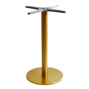 Onyx Round Brass Table Base