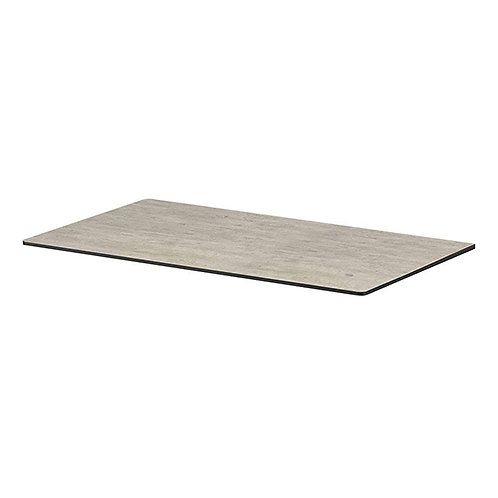 Cement Rectangular Laminate Top