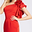Thumbnail: One Shoulder Ruffle Cocktail Dress in Red or Wintergreen