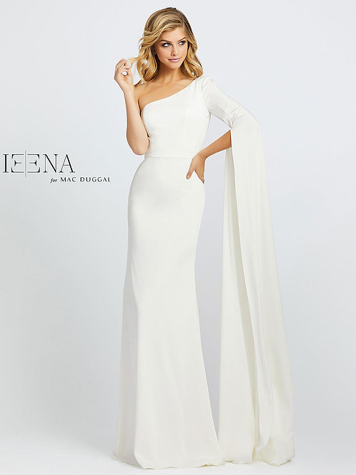 White One Sleeve Gown Sizes 0-14