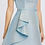 Thumbnail: Blue Gold Cocktail Dress with Ruffle