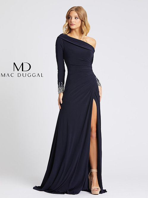 Midnight Blue Gown Beaded Wrist Size 0-16