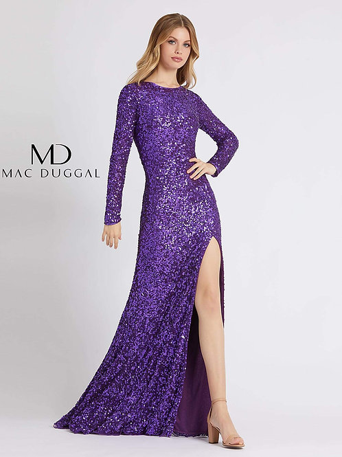 Purple Fully Sequined Gown Sizes 0-16