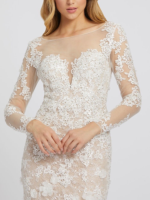 Lace Ivory/nude mermaid gown