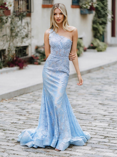 Lace Beaded Mermaid Gown