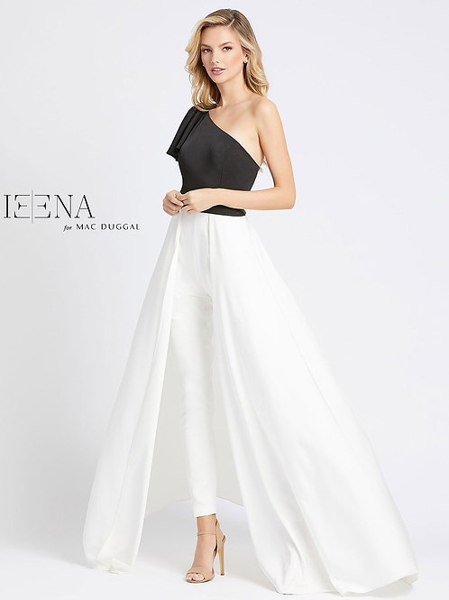 Black and White Jumpsuit with Overskirt