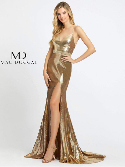 Metallic Gold Sleek Gown