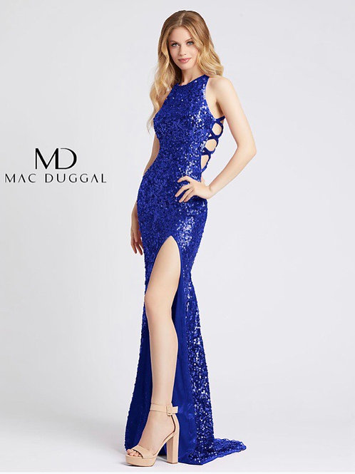 Sequined Gown with Cutouts