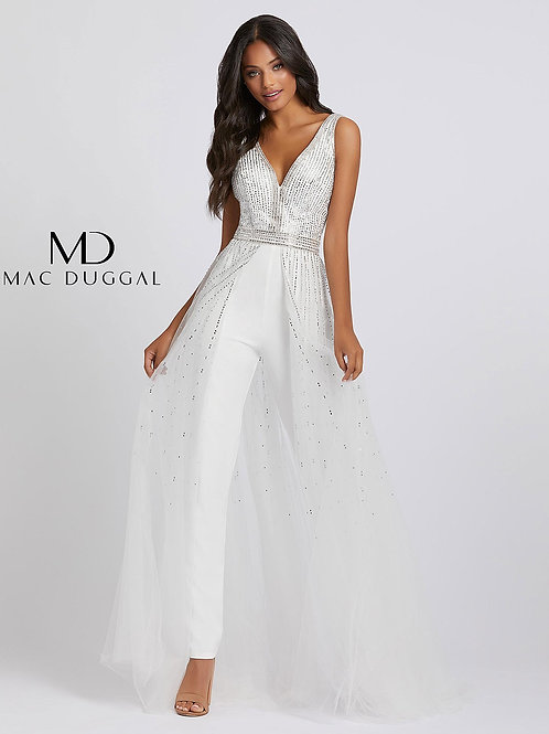 Jumpsuit With Beaded Bodice and Overskirt