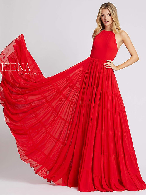 Red Tiered Skirt Gown                          Sizes 0-16