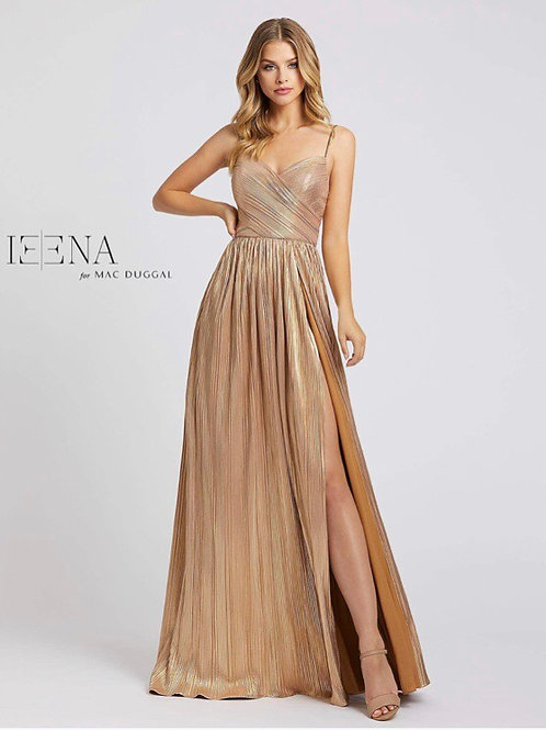 Metallic Golden Gown with Sweetheart Neckline