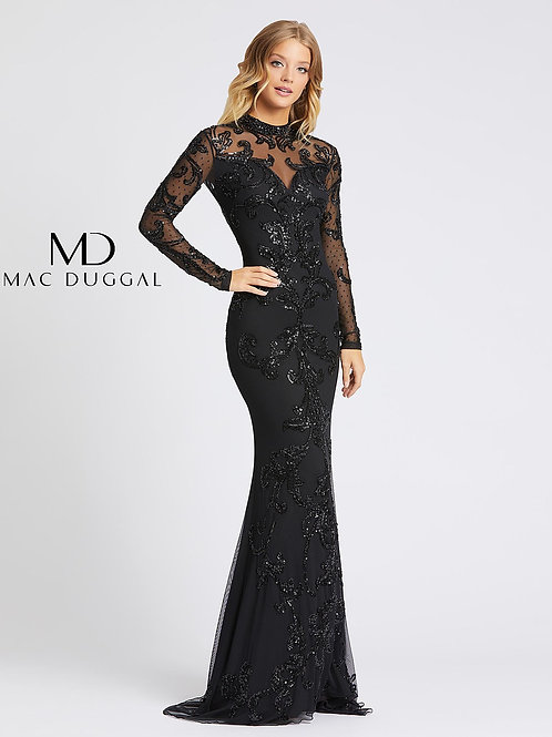 Black Lace Beading With Open Back