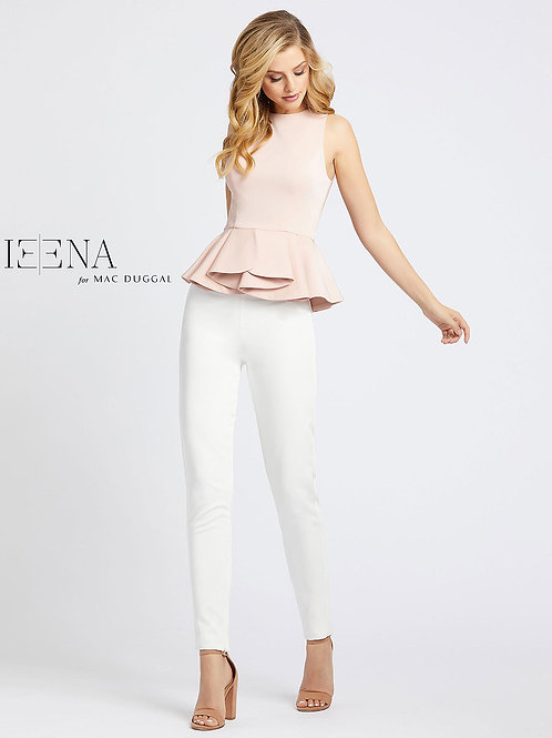 Pink Top and White Skinny Pant