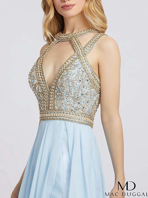 Beaded Bodice Choker Gown