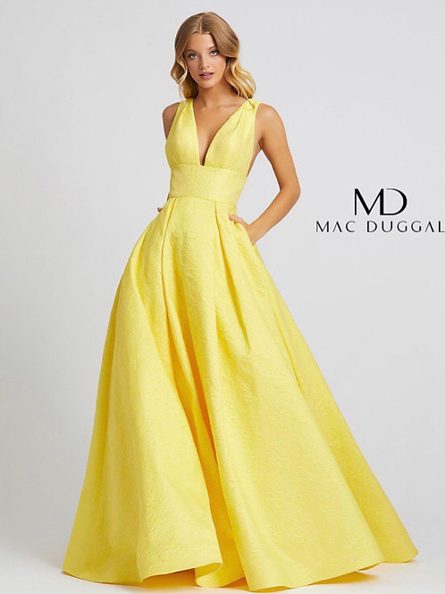 Lemon Ballgown with Pockets