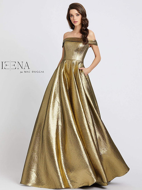 Off The Shoulder Metallic Fabric Ballgown  Sizes 0-18