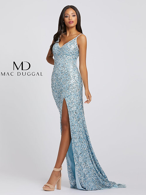 Powder Blue Sequined Gown                    Sizes 0-16