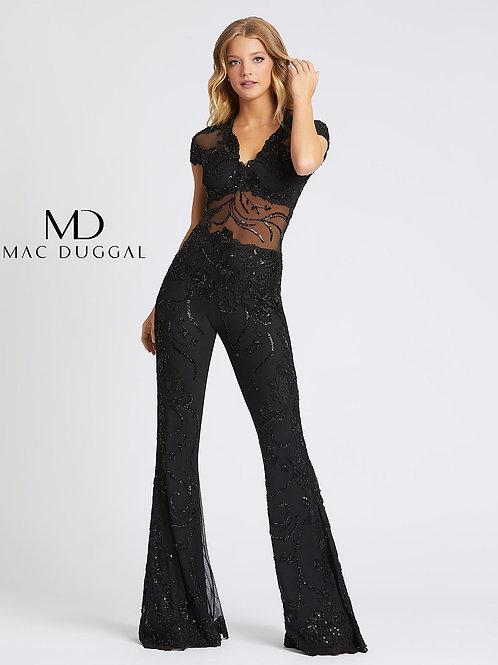 Beaded Jumpsuit In Black or White