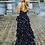 Thumbnail: Black Floral Gown                             Size 0-14
