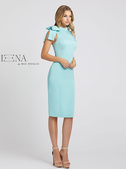 Aqua Tea-Length Dress. Size 0-12