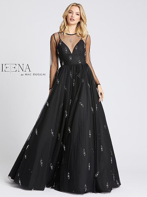 Black Ball Gown with Pearls Pearls Pearls